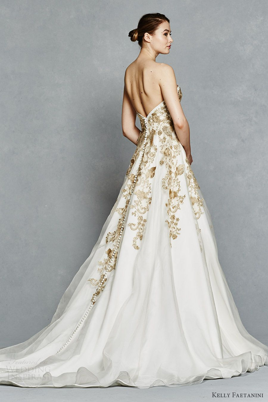 Kelly Faetanini Spring 2017 Wedding Dresses | Embroidery, Wedding ...