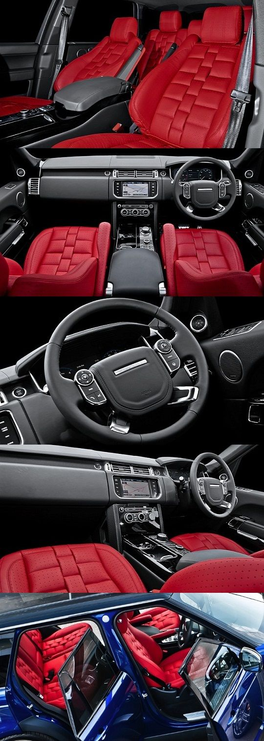Range rover interior leather package by khan sedynes - Range rover with red leather interior ...