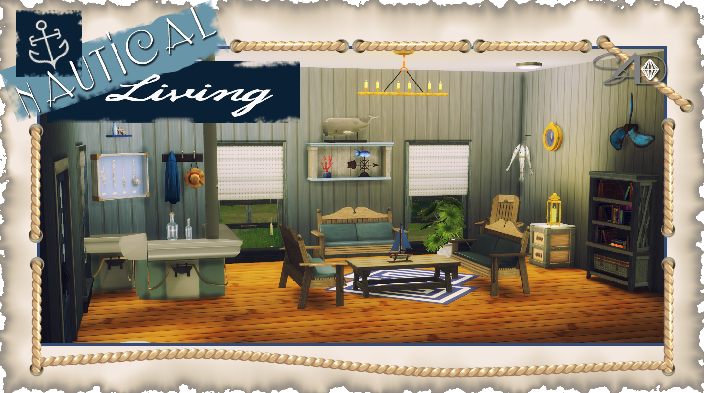 Ts3 to Ts4: Nautical Living (UPDATED) | Sims 4 Designs