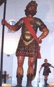 Goliath and David.