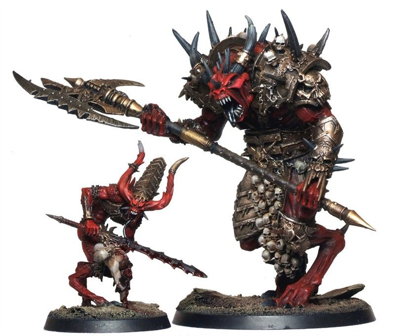 Matt Sterbenz Miniature Painting Forge World Avatar: Forge World - KHORNE DAEMON PRINCE AND HERALD