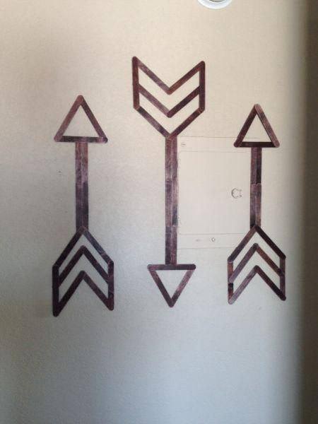 Popsicle Stick Arrow Art Diy Tutorial