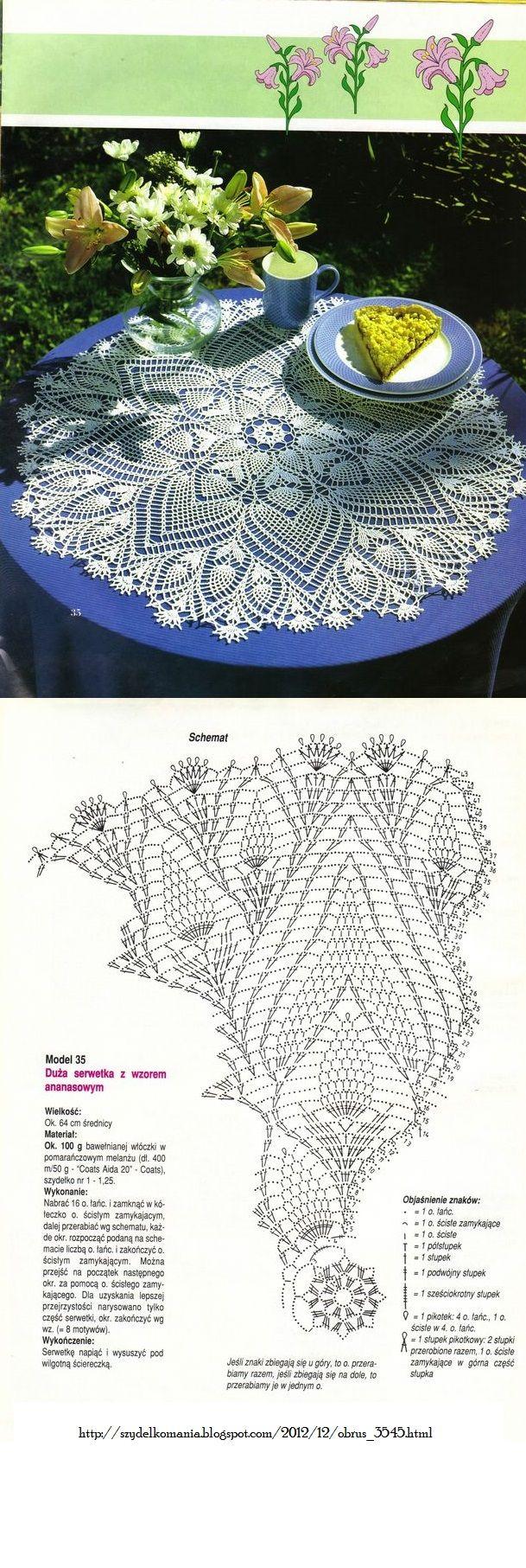 #_SUE Crochet Doily with diagram.