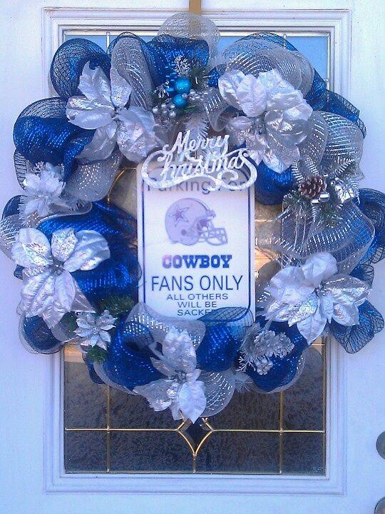 Dallas Cowboys Christmas Tree   Dallas Cowboy Christmas Wreath ...