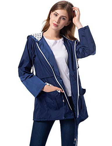 famous brand reputation first outlet online Romanstii Lightweight Raincoat Women Travel Jacket with ...