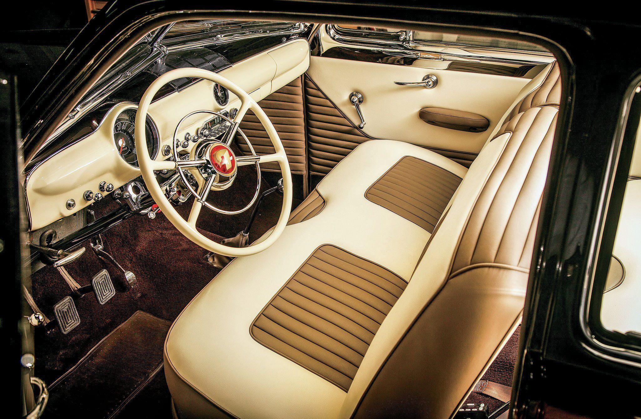 1949 Ford Coupe Interior Custom Car Interior Ford Shoebox Luxury Car Interior