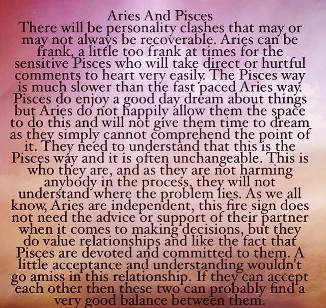 is aries and pisces compatible