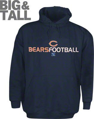 new concept 19901 f78d5 Chicago Bears big and tall hoodie, chicago bears 4x 5x 6x ...