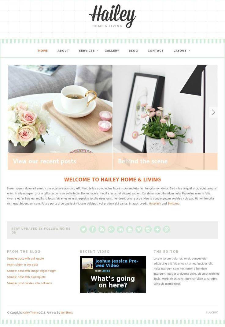 beautiful, clean, stylish, & feminine #wordpress theme for a ...