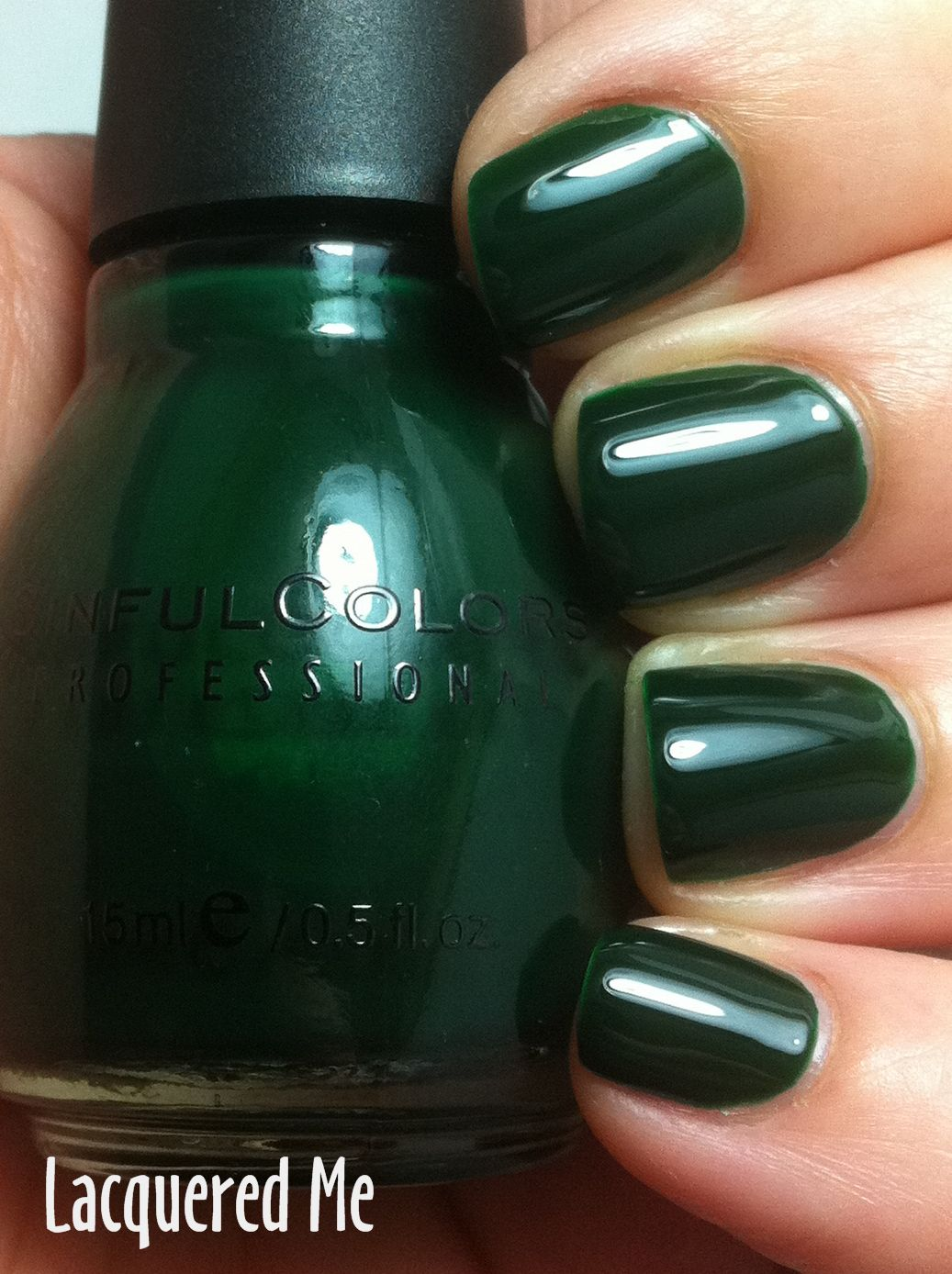 Sinful Colors Last Chance This Is A Jelly Polish With A Smooth Formula And A Beautiful Dark Dark Green Nail Polish Green Nail Polish Sinful Colors Nail Polish