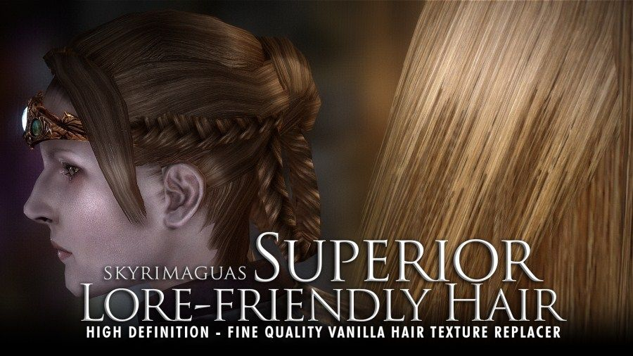 Superior Lore-Friendly Hair - HD textures at Skyrim Nexus - mods and