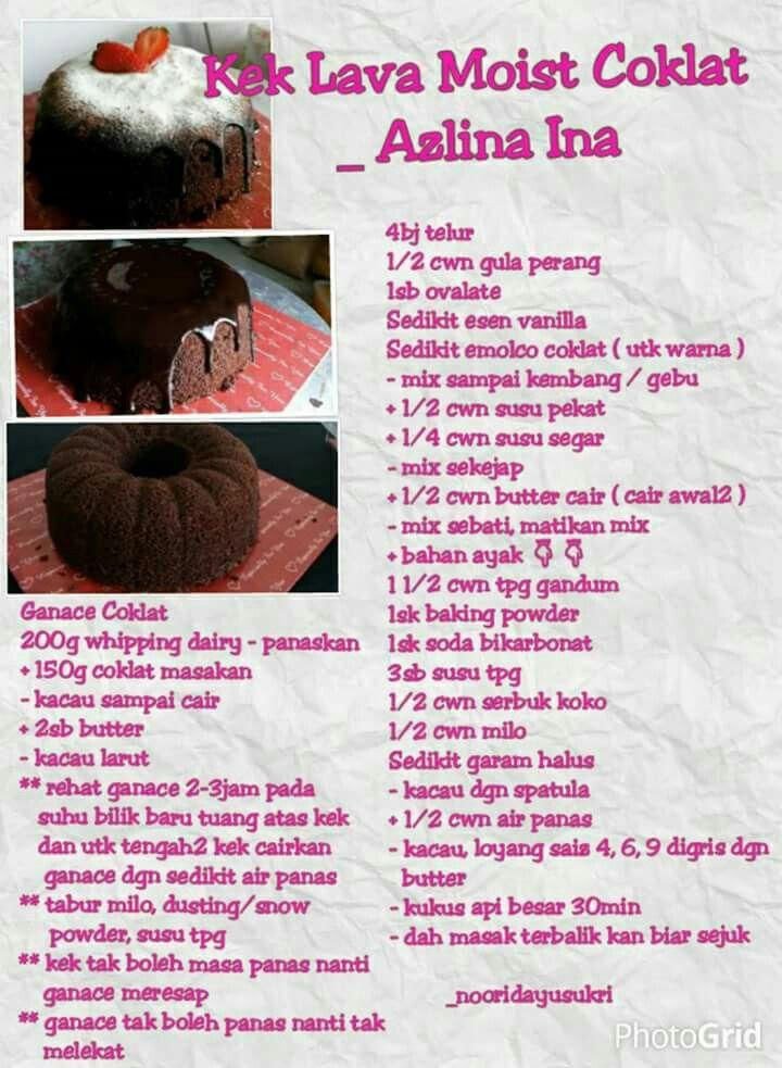 Kek Lava Chocolate Moist Resepi Kek
