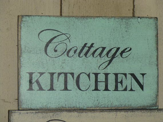 Shabby Chic Kitchen Signs : Cottage kitchen sign kitchen sign cottage by sophiescottage