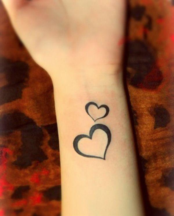 50 Cute Small Tattoos Cuded Heart Tattoo Wrist Two Hearts Tattoo Small Heart Tattoos