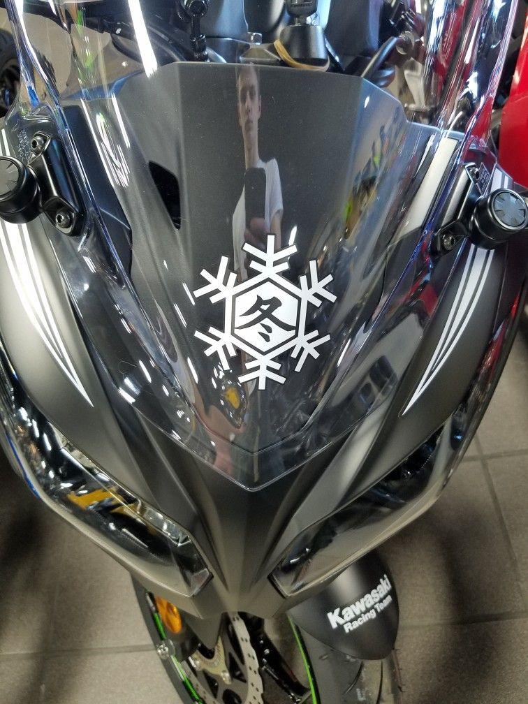 Kawasaki Winter Tested Sticker Motorcycle Pinterest - Stickers for motorcycles kawasaki
