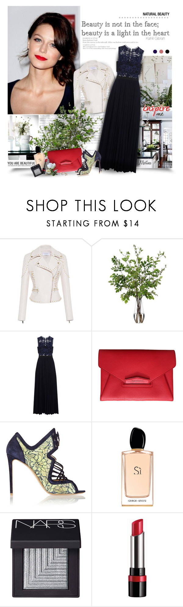 """""""The Beauty Of The Heart"""" by thewondersoffashion ❤ liked on Polyvore featuring Zuhair Murad, Diane James, self-portrait, Givenchy, Nicholas Kirkwood, Giorgio Armani, NARS Cosmetics, Rimmel, Diamonds Unleashed and women's clothing"""