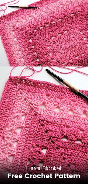 Lunar Blanket Free Crochet Pattern | crochet | Pinterest ...