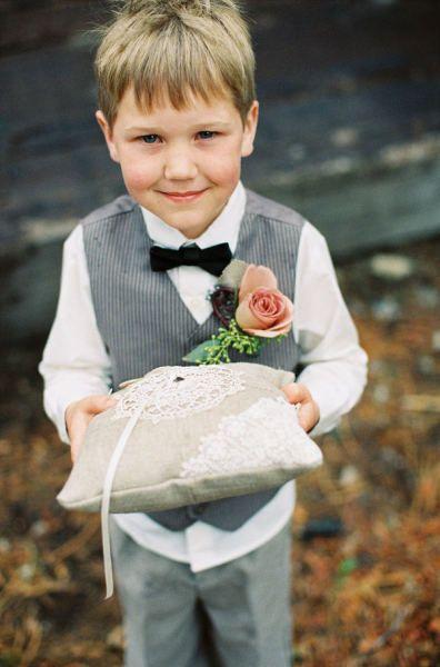 Wedding Ring Bearers Grey Vest And Pants