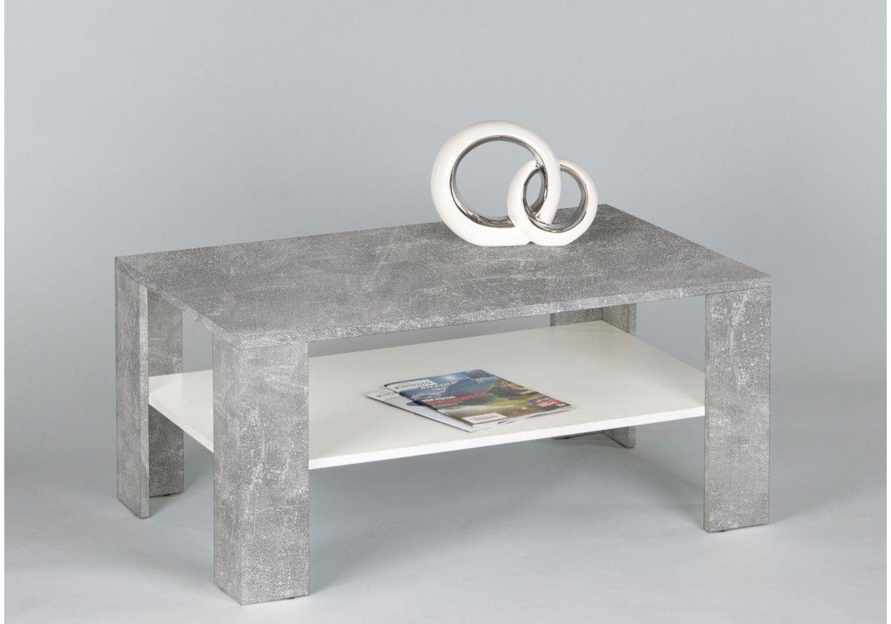 Wohnzimmertisch Betonoptik ~ Moderner couchtisch in stylischer betonoptik und einem ablagefach