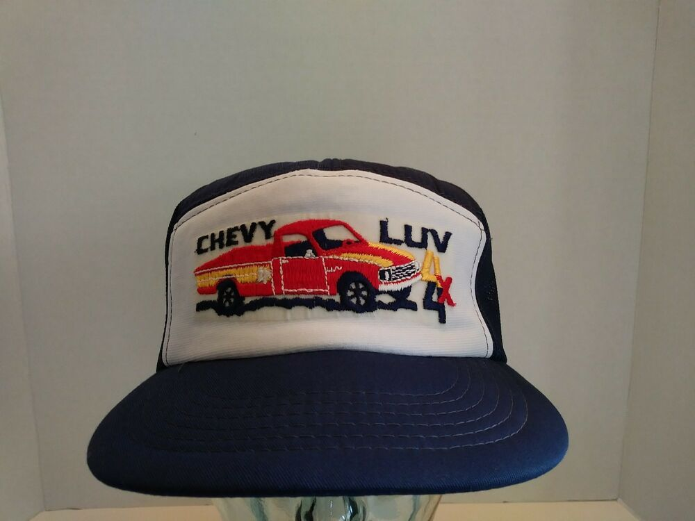 Vtg Chevy Luv 4x4 Trucker Hat Snapback Embroidered Dad Camp Chevrolet Mini Truck Youngan Trucker Chevy Luv Champion Pullover Mini Trucks