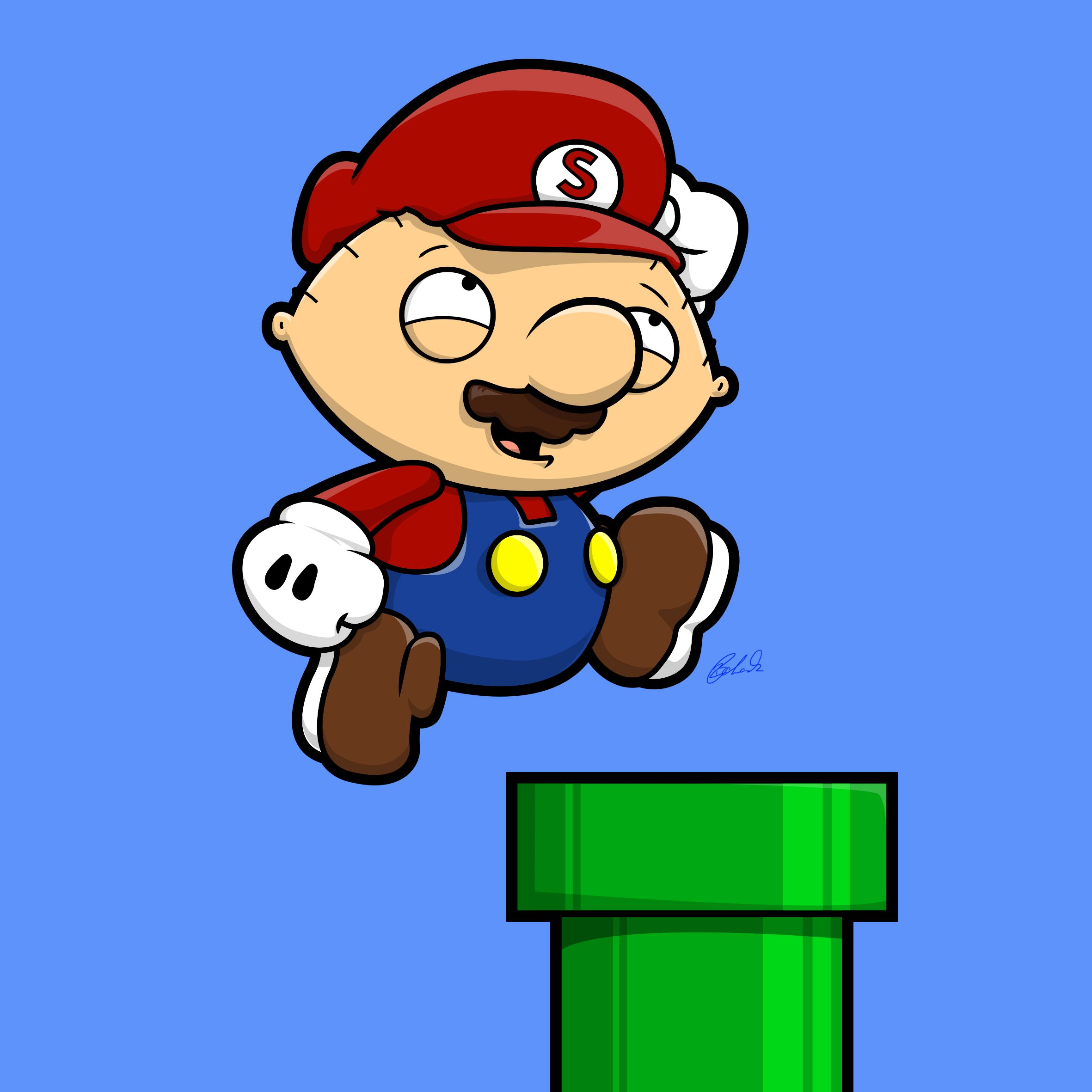 Super Mario Griffin Vector illustration, Illustration, Mario