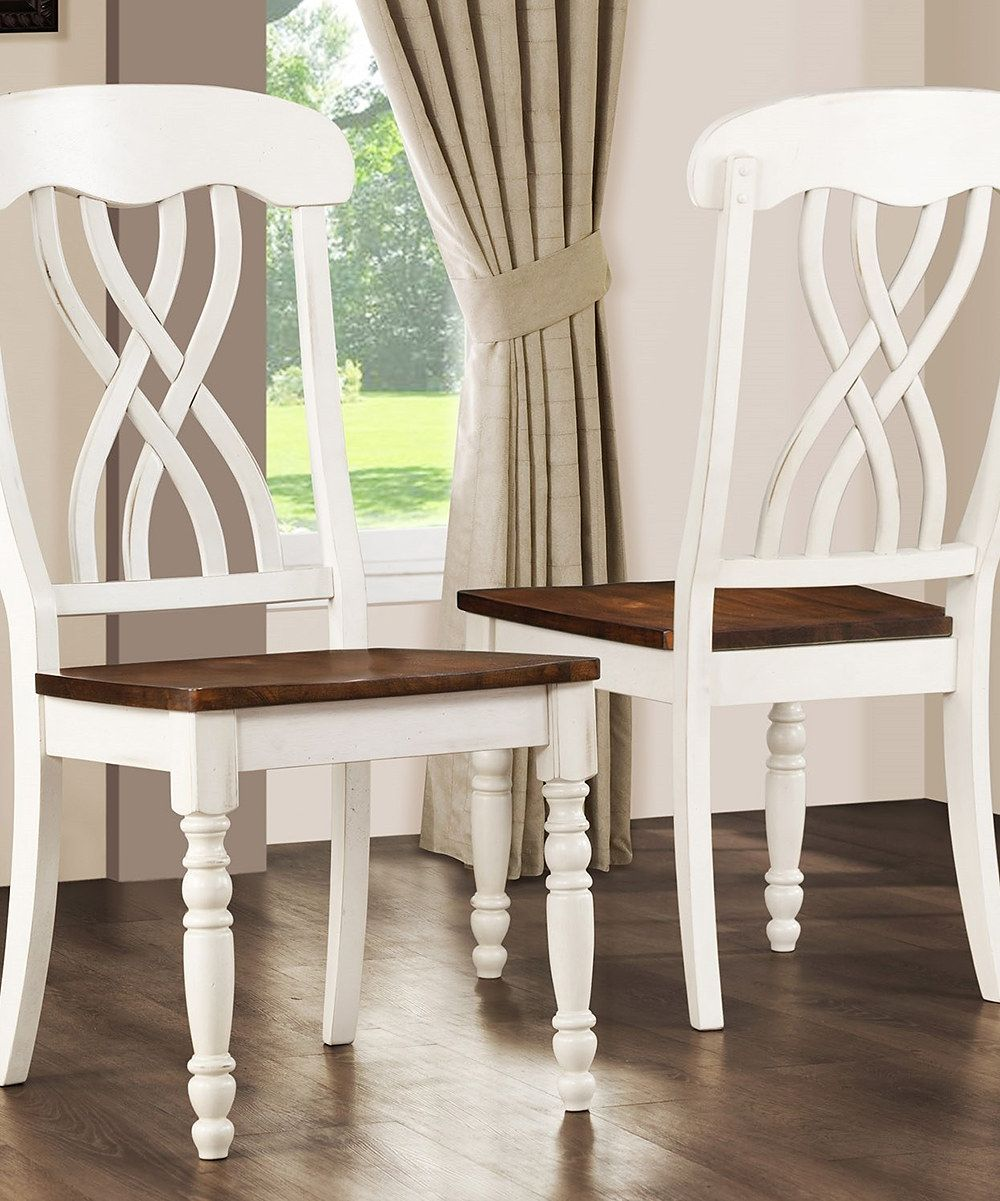 Look what I found on #zulily! White Yorkshire Dining Chair - Set of Two by HomeBelle #zulilyfinds