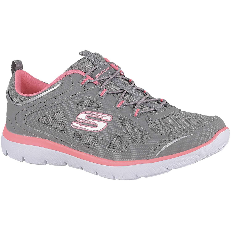 zapatos skechers mujer peru gris