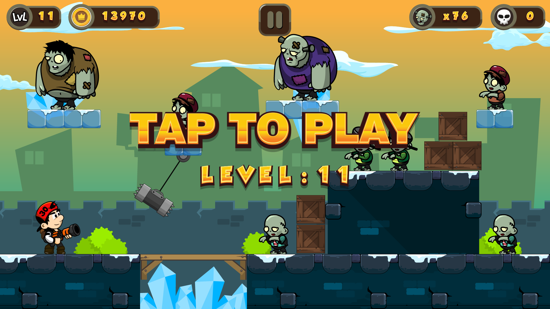 Zombie Buster HTML5 Game 20 Levels + Mobile Version
