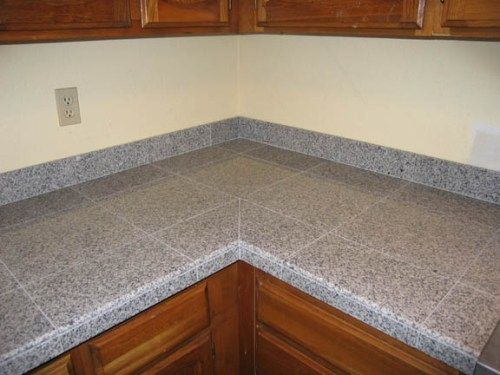 Steel Grey Granite Tile Countertop Tile Countertops Tile