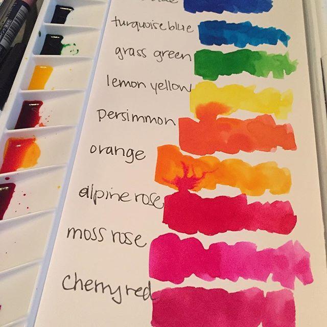 Color Scheme Watercolor Circles Watercolor Texture Watercolor