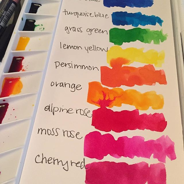 Setting Up My New Radiant Watercolors Palette Drphmartins