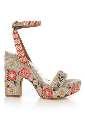 f7ee79676 Calla linen embroidered platform sandals
