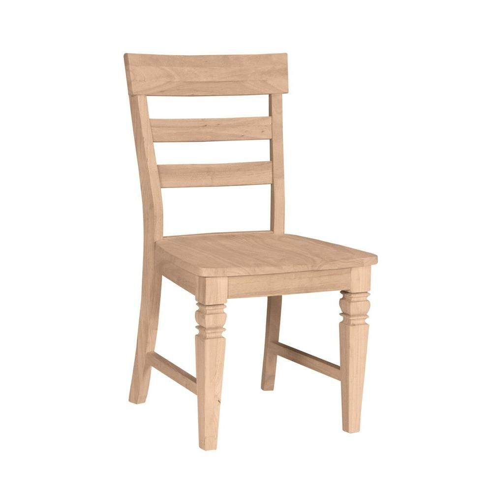 International Concepts Unfinished Wood Dining Chair Set Of 2 C