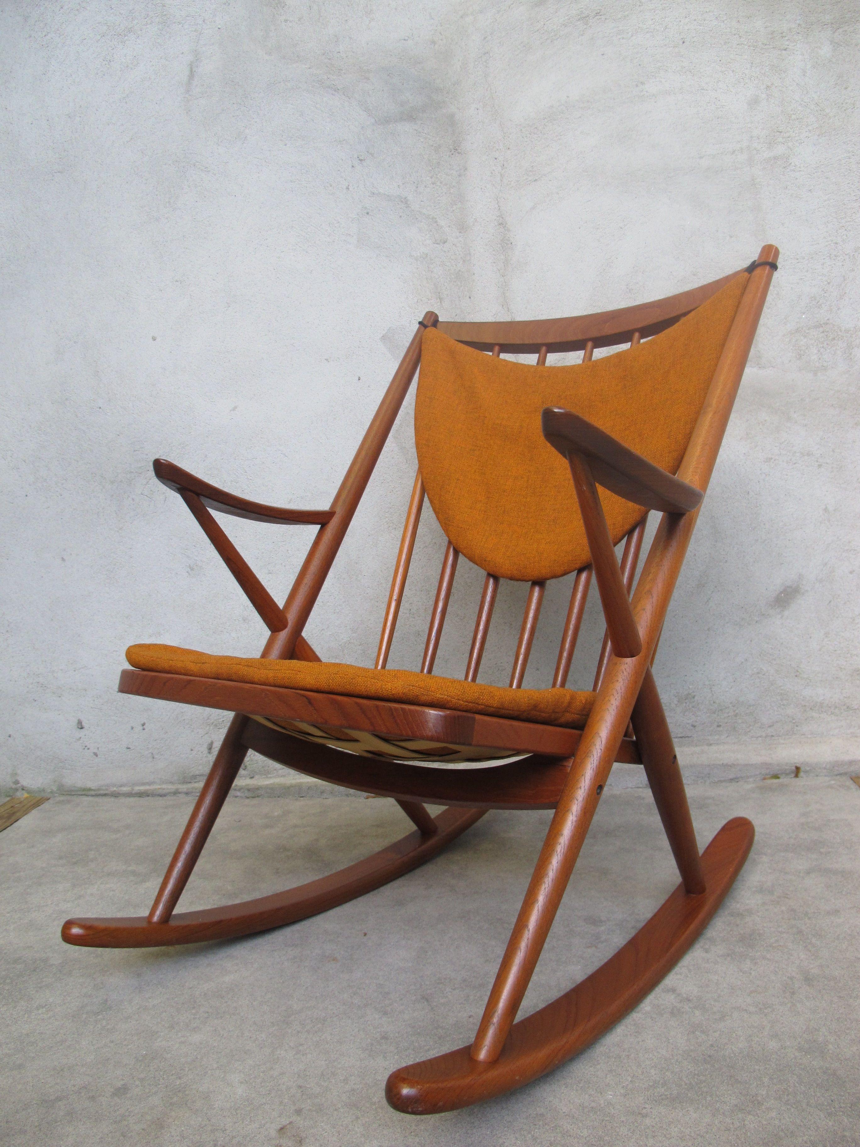 Frank reenskaug rocking chair - Bramin Danish Modern Rocking Chair By Frank Reenskaug