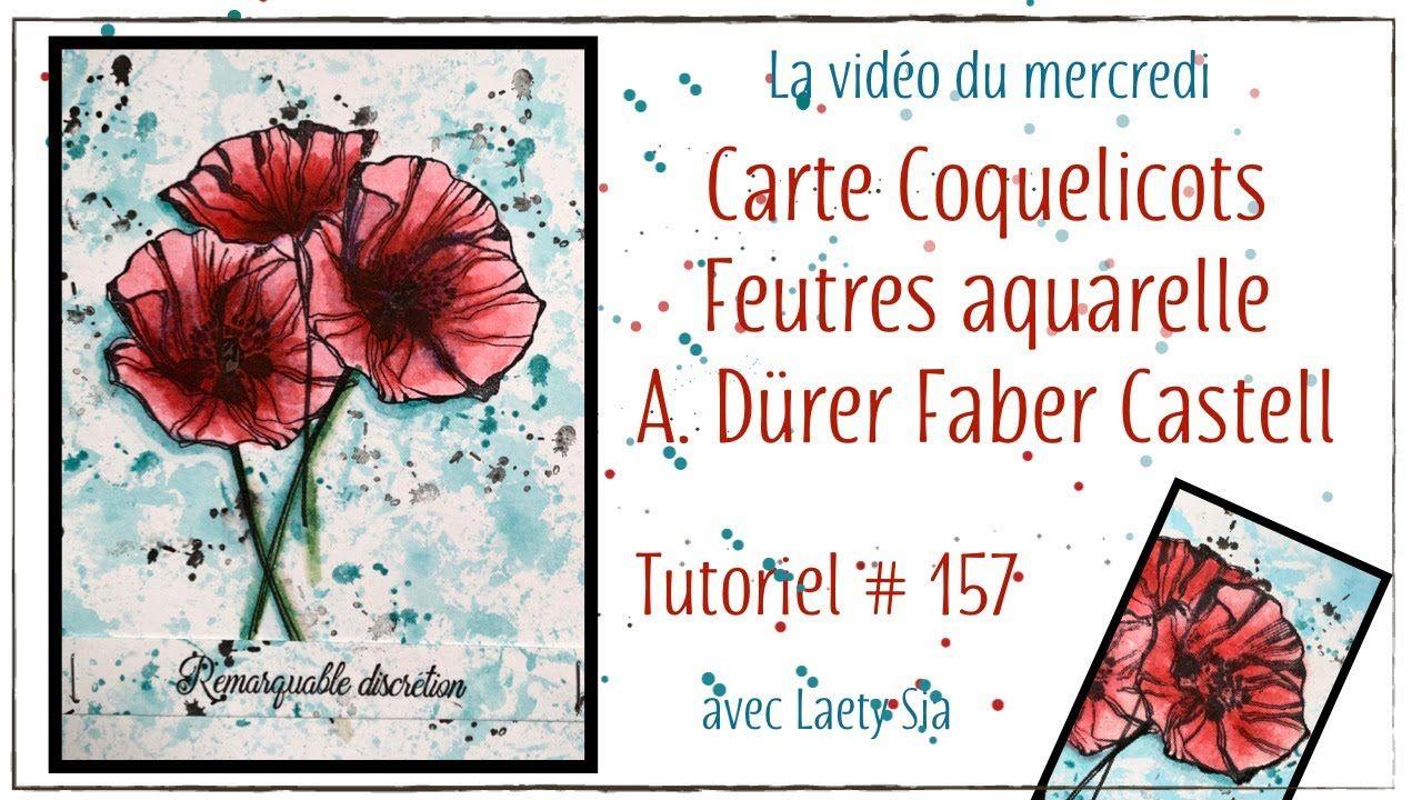 Carte Coquelicots Feutres Aquarellables A Durer Faber Castell