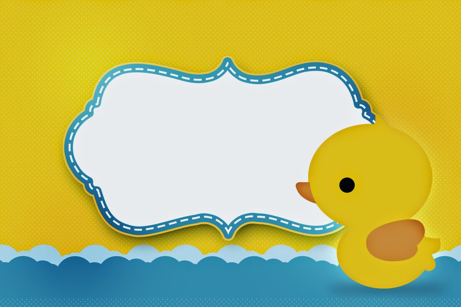 Baby Girl Shower · Rubber Ducky: Free Printable Invitations.