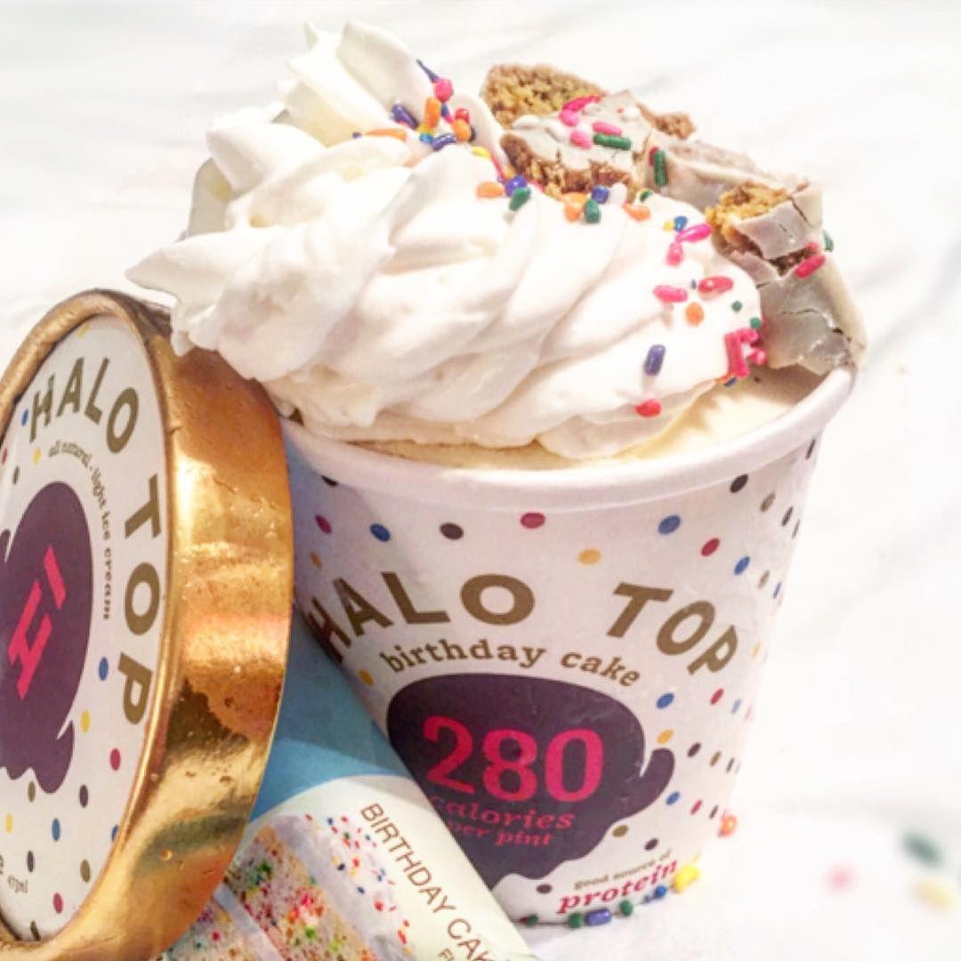 Dairy ice cream flavors halo top birthday cake cake