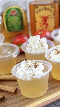 Apple Pie Jello Shots #jelloshotrecipes