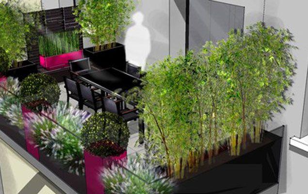 proteger du vis a vis terasses pinterest balcon jardins et terrasse. Black Bedroom Furniture Sets. Home Design Ideas