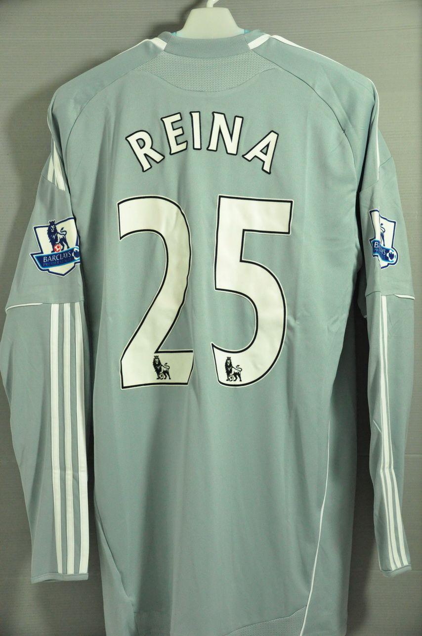 Liverpool Reina 25 Goalkeeper Jersey Shirt Long Sleeves Epl Premier League Plus Premier League Badges English Premier League Premier League Sports Jersey