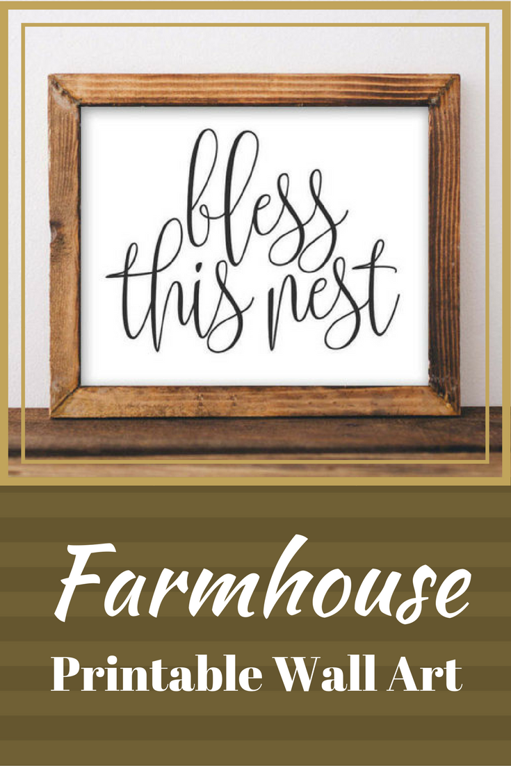 quote printable wall art bless this nest printable art black and white printable farmhouse on farmhouse kitchen quotes free printable id=95154
