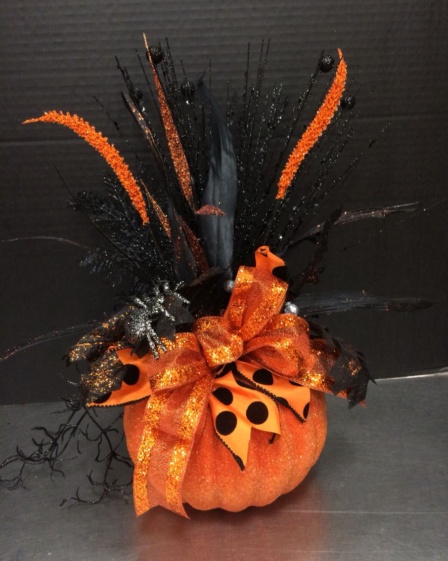 Simple Black and Orange Pumpkin 2016 by Andrea Fall