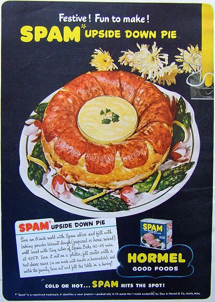 SPAMILY LIFE 1941 SPAM HORMEL FOODS Lunch Meat Vintage Look REPLICA METAL SIGN