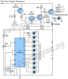 lm3914 automatic 12v universal battery charger circuit diagram rh pinterest com