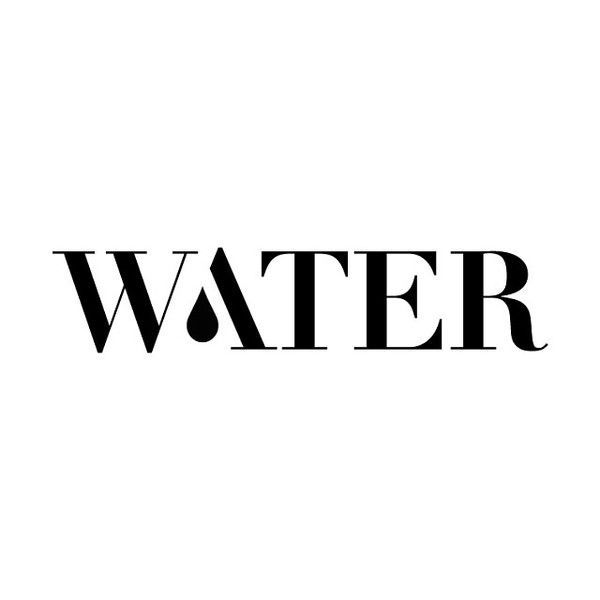 Love the simplicity of this Water logotype