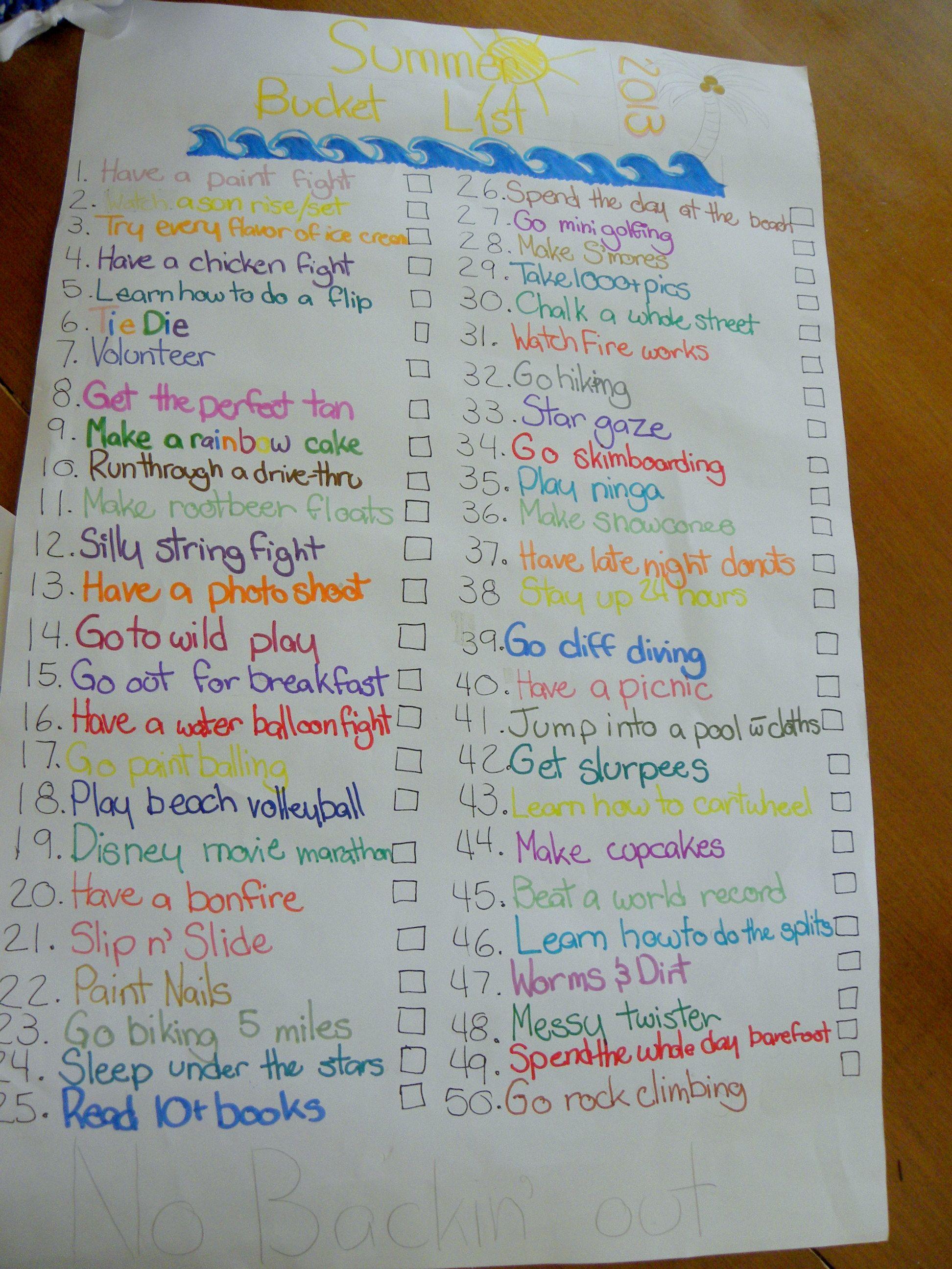 A Summer Bucket List Best friend bucket list, Summer