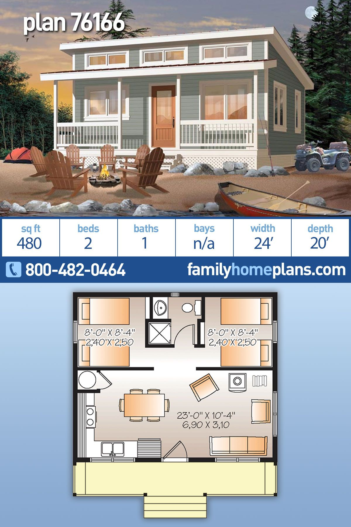 Cabin Style House Plan 76166 With 2 Bed 1 Bath Vacation House Plans Beach House Flooring House Plans