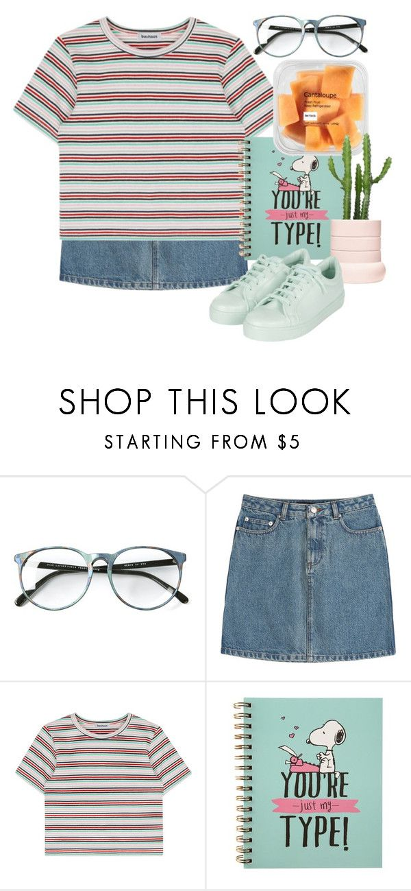 """☁️Rayame☁️"" by rayame ❤ liked on Polyvore featuring A.P.C. and Topshop"