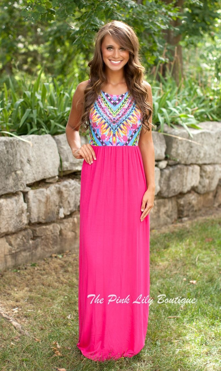 The Pink Lily Boutique - Dream On Maxi Pink , $38.00 (http://thepinklilyboutique.com/dream-on-maxi-pink/)