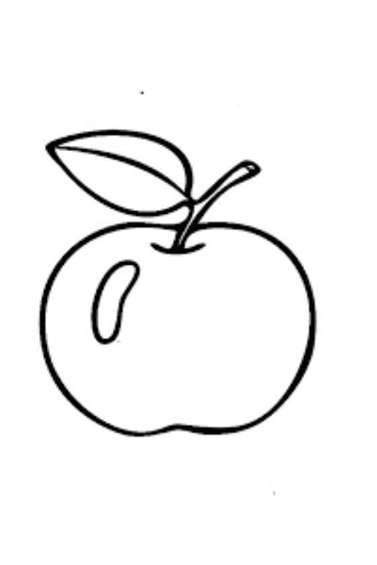 Apple Coloring For Kids Apple Coloring Apple Coloring Pages Coloring For Kids